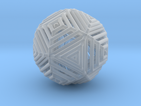Cube to octahedron transition Version 2 in Smooth Fine Detail Plastic