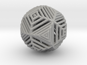 Cube to octahedron transition Version 2 in Aluminum