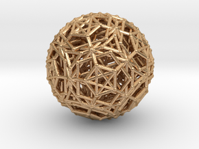 Dodeca & Icosa hedron families forming a sphere in Natural Bronze