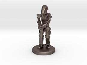 Battle Droid 20mm scale (25mm tall) in Polished Bronzed-Silver Steel