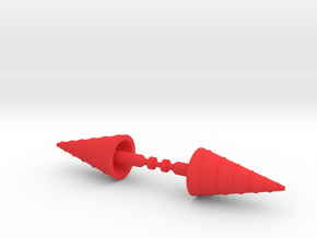 Karza Large Drill Missiles in Red Processed Versatile Plastic