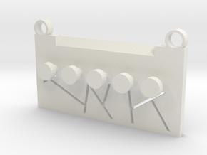 Line in White Natural Versatile Plastic