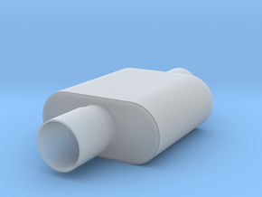 1/8 Scale 1 Chamber Flowmaster Muffler in Smoothest Fine Detail Plastic