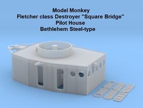 1/96 Fletcher (Bethlehem Steel-type) Pilot House in Smooth Fine Detail Plastic