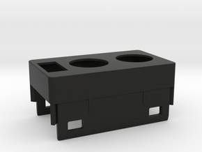 Discovery power outlet and switch bracket in Black Natural Versatile Plastic
