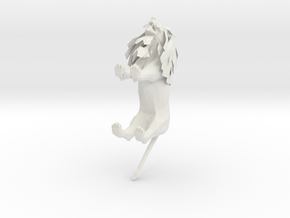 Lion in White Natural Versatile Plastic: Medium
