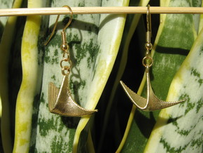 Parabolic 1 Earrings in Natural Brass