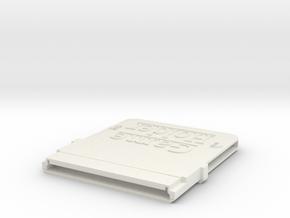 ds cardtridge holder in gba slot in White Natural Versatile Plastic