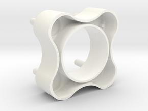Vitrobot substitute grid-box holder in White Processed Versatile Plastic