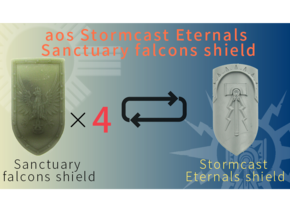 Sanctuary falcons shield in Smooth Fine Detail Plastic