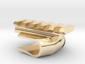 Front-Mounted Picatinny Rail For Skateboards in 14k Gold Plated Brass