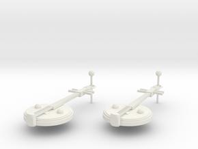 Zhongruan earrings in White Natural Versatile Plastic