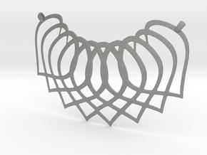 Necklace Pendant in Gray Professional Plastic