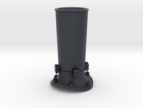 Steam locomotive smoke stack - S scale in Black Professional Plastic