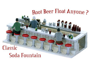 Soda Fountain Super Detailed HO Scale in Smooth Fine Detail Plastic