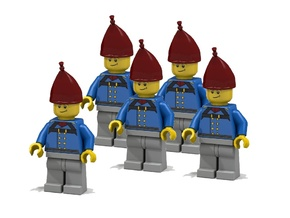 5 x Grenadier Hats in Red Strong & Flexible Polished
