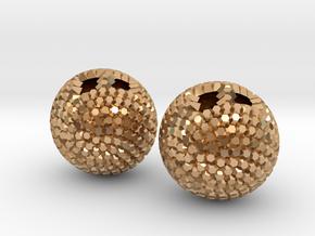 Fibonacci earrings in Polished Bronze