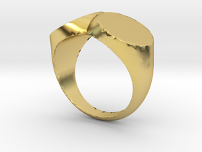 double ring/ two faced in Polished Brass: 2 / 41.5