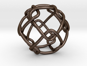 Link with Cubic Symmetry Group in Polished Bronze Steel