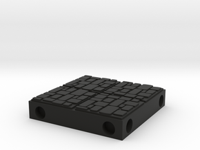 ET Dungeon Tile in Black Natural Versatile Plastic