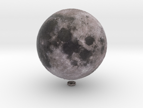 "Moon /12"" Earth globe addon in Natural Full Color Sandstone"