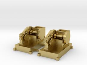 Steinbrecher mit Stationärmotor-Antrieb 2erSet TT  in Natural Brass