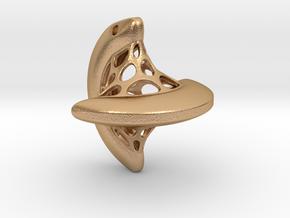 Sphericon pendant in Natural Bronze