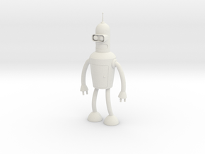 Futurama Bender Figure in White Natural Versatile Plastic: Small
