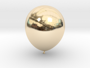 Balloon! in 14k Gold Plated Brass: Small