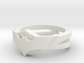 New Batring Sz 9 Fix 2.3DS in White Natural Versatile Plastic