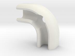 6mm cable clip for M4 countersunk screw, 90° angle in White Natural Versatile Plastic