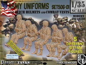 1/35 Mod-Unif Vest+Mitch Set506-01 in Smooth Fine Detail Plastic