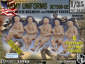 1/35 Mod-Unif Vest+Mitch Set506-02 in Smooth Fine Detail Plastic