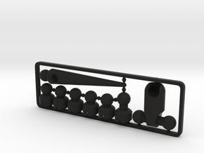 Lizard Tail & Hip Set for ModiBot in Black Premium Versatile Plastic