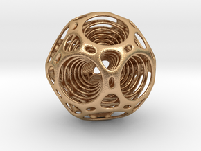 Nested dodecahedron in Natural Bronze