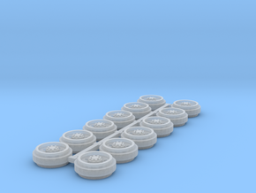 1/64 Alcoa Singles Rims (3 Sets) in Smooth Fine Detail Plastic