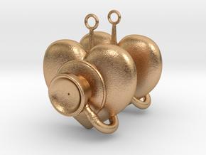 Stethoscope Earrings in Natural Bronze