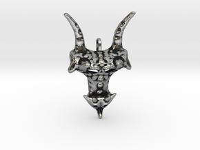 Dragon head in Antique Silver