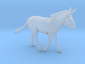Mule w/Harness in Smoothest Fine Detail Plastic: 1:87 - HO