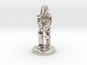 Battle Droid 20mm tall in Platinum