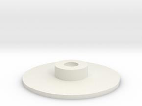 16mm looper Platter in White Natural Versatile Plastic