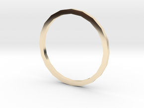 Simplicity  in 14k Gold Plated Brass: Small