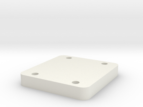 looper handle clamp plate in White Natural Versatile Plastic