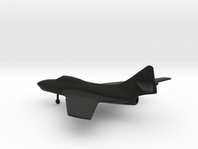 Grumman F-9J Cougar in Black Natural Versatile Plastic: 1:160 - N