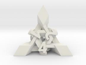 Intangle Die4 in White Natural Versatile Plastic