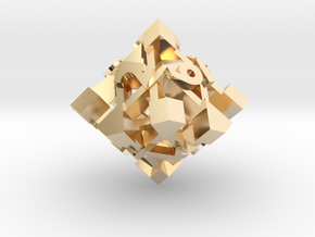 Intangle d10 in 14k Gold Plated Brass