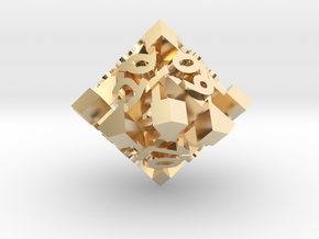 Intangle d10 Decader in 14K Yellow Gold