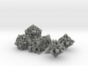 Intangle Dice Set with Decader in Gray Professional Plastic