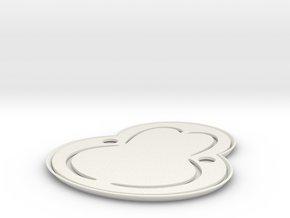 tray.stl in White Natural Versatile Plastic