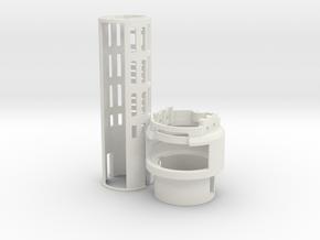 Graflex2.0 - Master Chassis - 1/7 Battery in White Premium Versatile Plastic